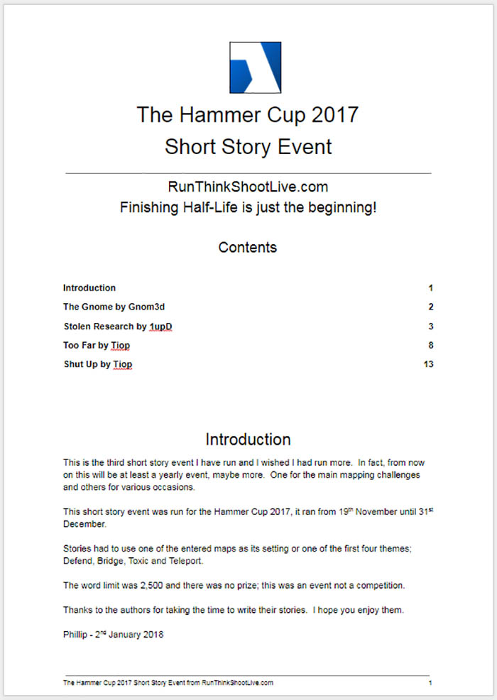 The Hammer Cup 2017 Short Story Event