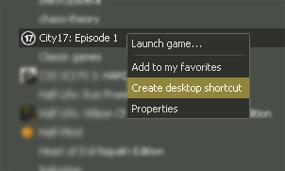 Creating a shortcut